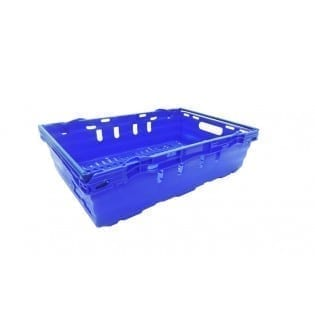 Maxi Nest Perforated Containers  - Perforated Tray with Bale Arms - 600L x 400W x 167Hmm - Blue - 28 Litres