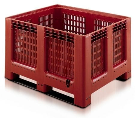 GEO Boxes with 6 Feet Base - Ventilated - 543 Litres - 1200L x 1000W x 750Hmm