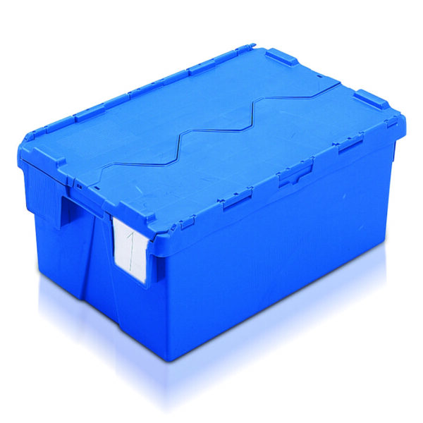 Economy Attached Lid Containers - 600L x 400W x 264Hmm - 48 Litres