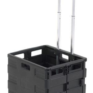 Black Folding Box Trolley