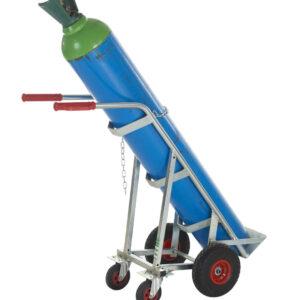 Cylinder Trolley With Rear Castor - Zinc