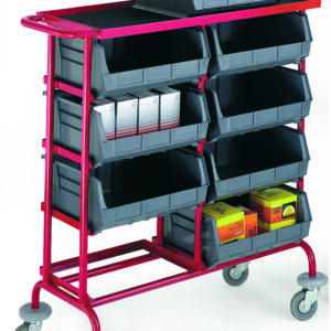 Container Storage Trolley C/W 8 Containers