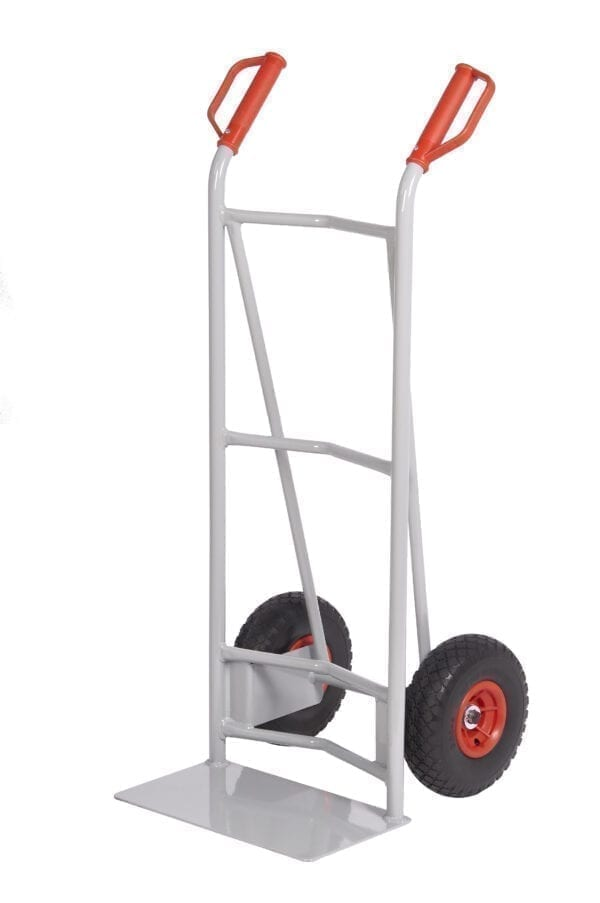 Fort Steel Sack Truck - Reach Compliant Wheels - Concave + Axle Supports