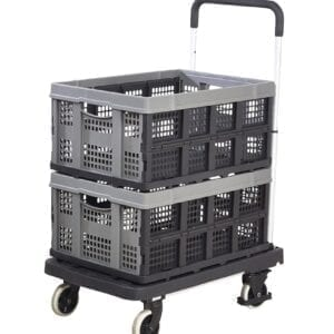 Foldaway' Platform Trolley with 2 x Removable Folding Boxes