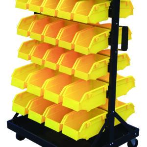 Bin Trolley complete with 46 Bins