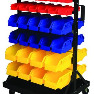 Bin Trolley complete with 60 Bins
