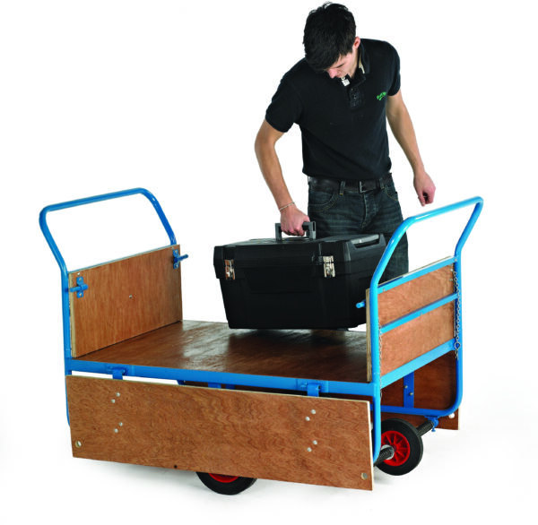 Balanced Truck - Plywood Deck - 4 Wheels - With Hinged Sides