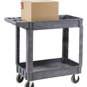 2 Shelf Plastic Service Trolley - 950L