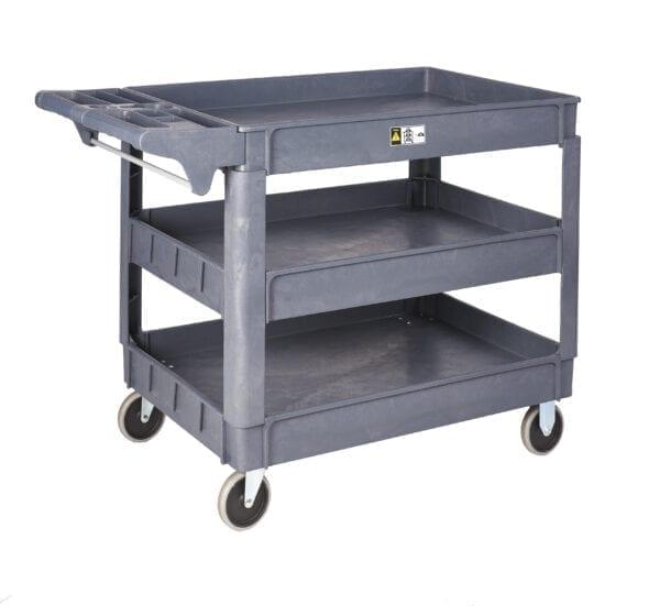 3 Shelf Plastic Service Trolley - 1100L