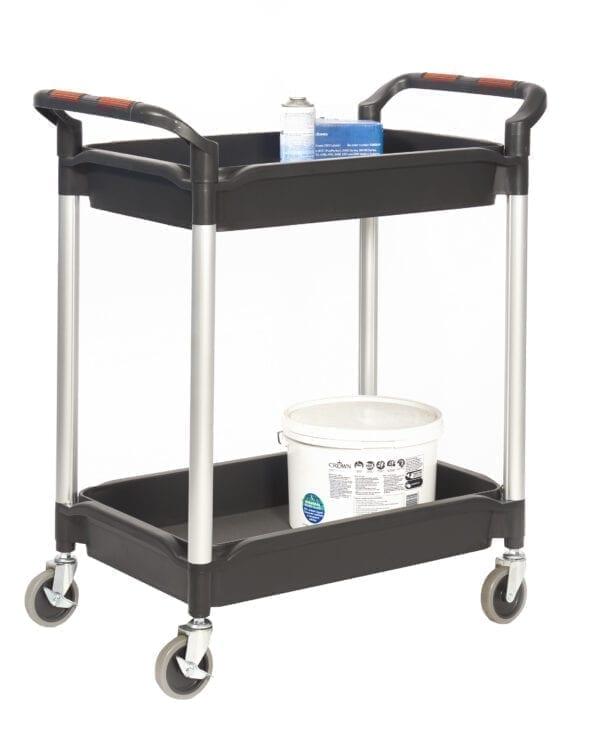 Proplaz®' Shelf Trolley with Deep Trays - 2 Shelf