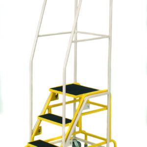 Fort® 'Duplex' Weight Reactive Mobile Steps -  4 Step - Yellow Inner Frame - Phenolic Treads