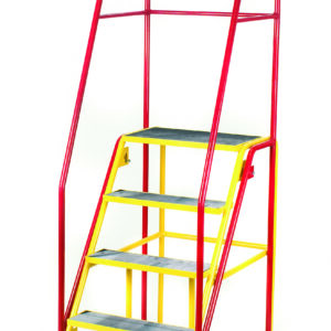 Fort® 'Duplex' Weight Reactive Mobile Steps -  6 Step - Yellow Inner Frame - Phenolic Treads
