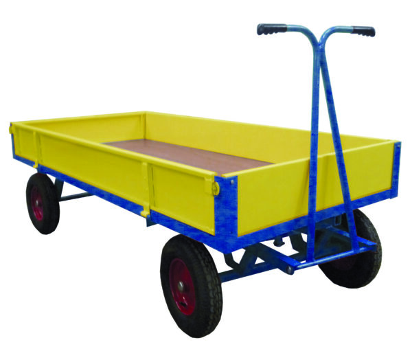 Hand Drawn Truck C/W Steel Sides/Ends - 2000 X 1000 - 400Mm Pneumatic