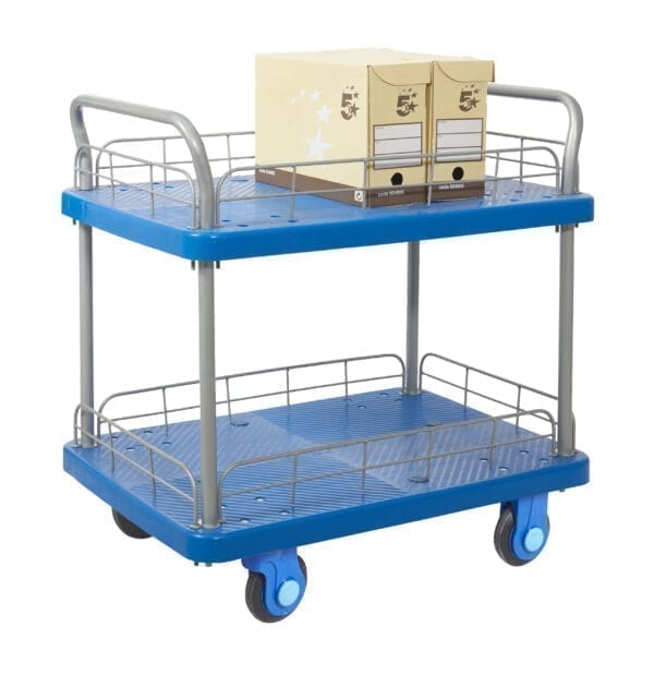 Proplaz® Super Silent Two Tier Trolley With Wire Surround