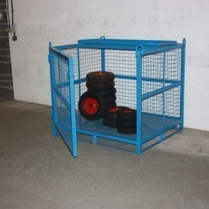 Heavy Duty Craining Cage - Craning cage with opening front & 1/2 fold security roof