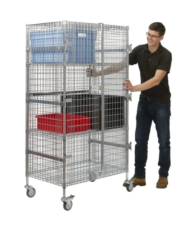 Chrome Wire Security Trolleys - Small