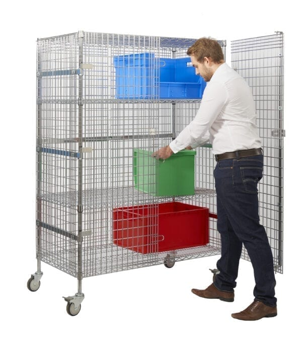 Chrome Wire Security Trolleys - Large