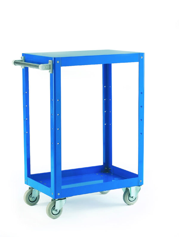 Reversible Blue 3 Tray Trolley - 670 X 400