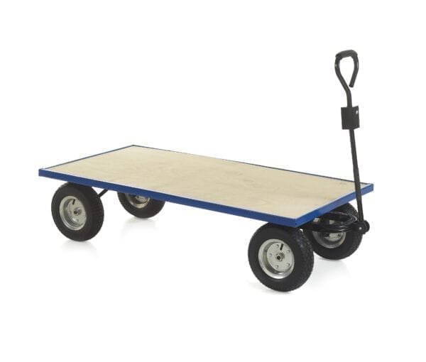 Industrial General Purpose Truck PLYWOOD BASE - 1500x750x360 - Puncture proof Wheels