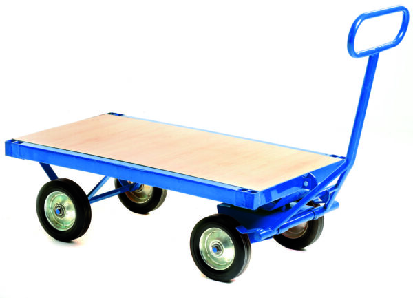 Prime Heavy Duty Turnable Truck with Brake - Flat Deck
