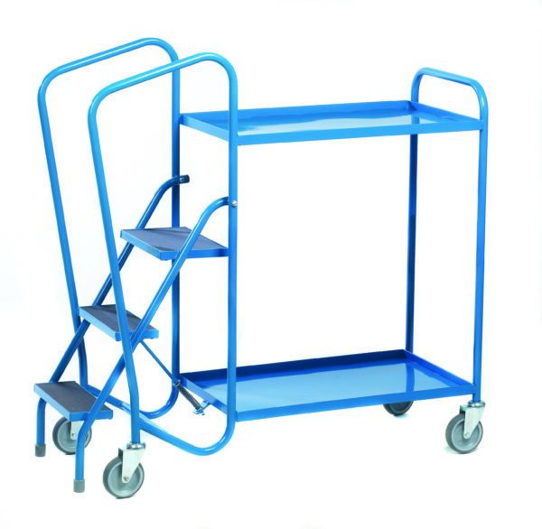 Standard Order Picking Trolley - 2 Steel Trays