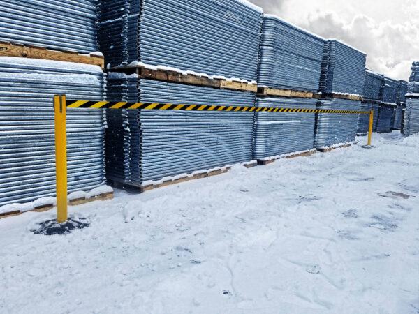 Weatherproof barriers - Messaged - 4900mm Belt Length